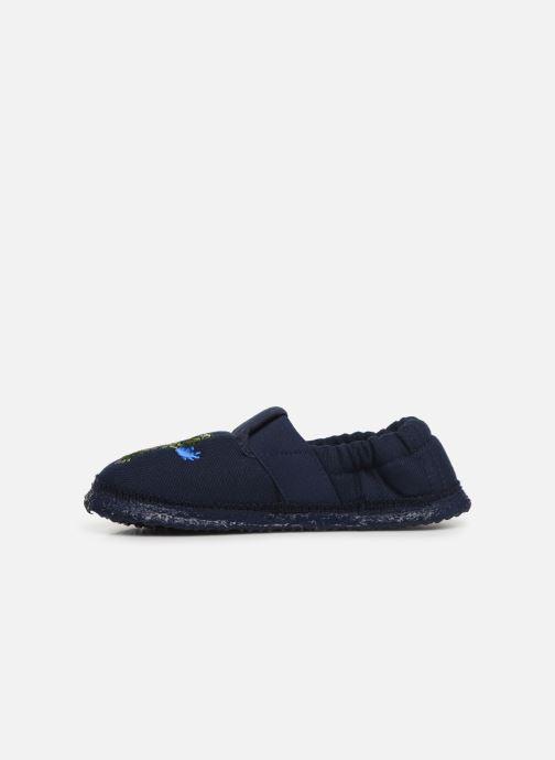 Pantofole Giesswein Altenau Azzurro immagine frontale