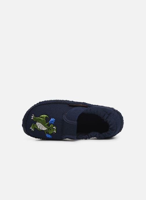 Pantofole Giesswein Altenau Azzurro immagine sinistra