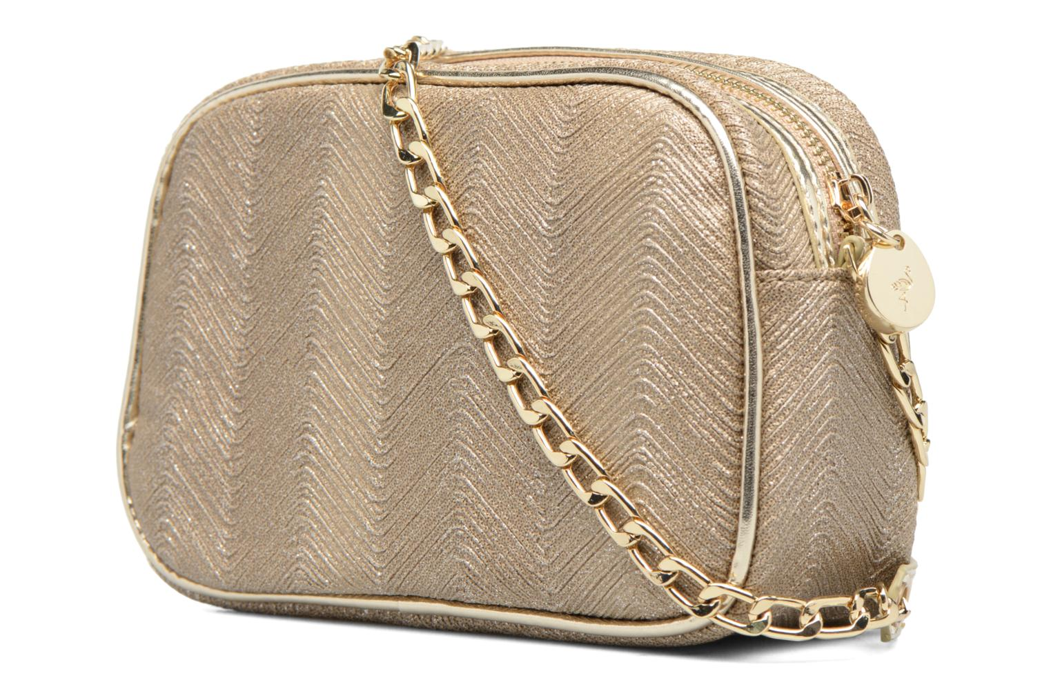 Handbags Menbur BRAZZAVILLE Bronze and Gold view from the right