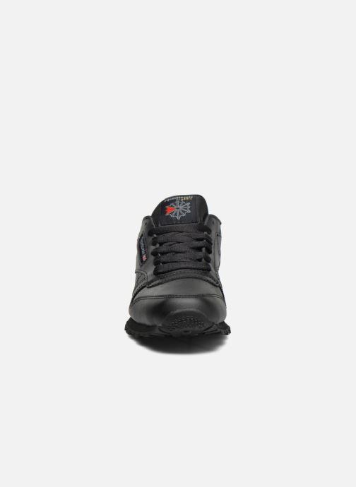 Sneaker Reebok Classic Leather schwarz schuhe getragen