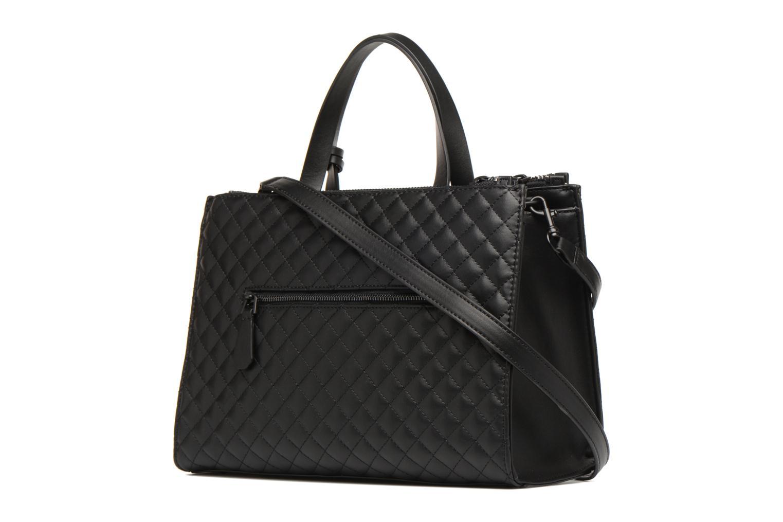 Handtaschen Guess G Lux Status Satchel schwarz ansicht von rechts