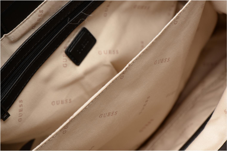 Handtaschen Guess G Lux Status Satchel schwarz ansicht von hinten