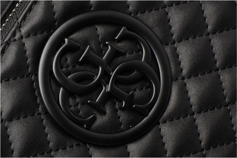 Handtaschen Guess G Lux Status Satchel schwarz ansicht von links