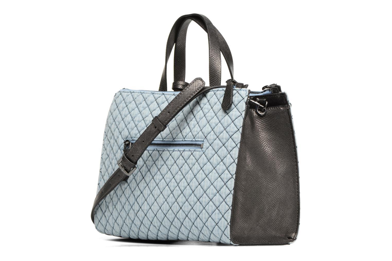 Handtaschen Guess G Lux Status Satchel blau ansicht von rechts
