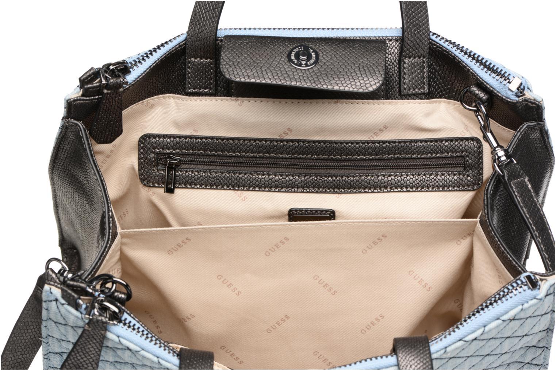 Handtaschen Guess G Lux Status Satchel blau ansicht von hinten