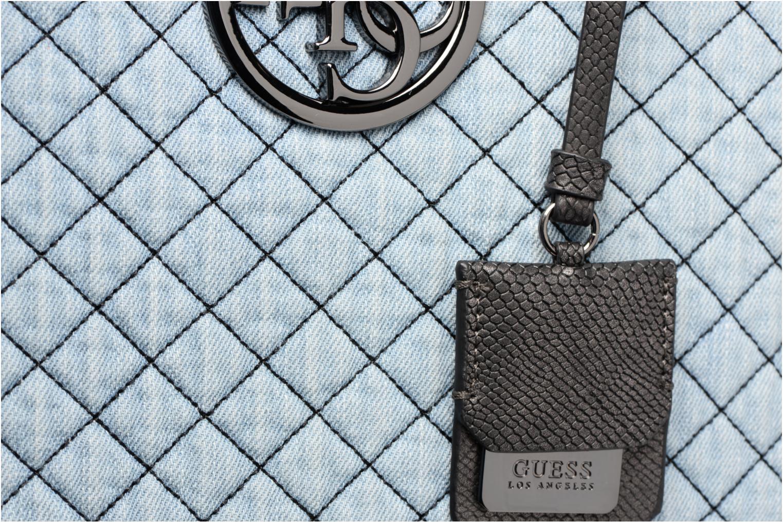 Handtaschen Guess G Lux Status Satchel blau ansicht von links