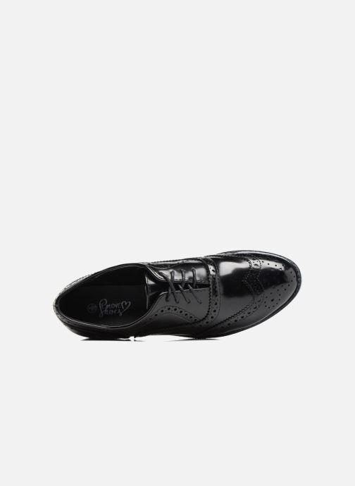 Zapatos con cordones I Love Shoes KIBROG Negro vista lateral izquierda