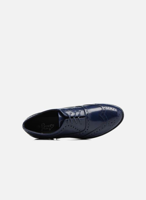 Zapatos con cordones I Love Shoes KIBROG Azul vista lateral izquierda