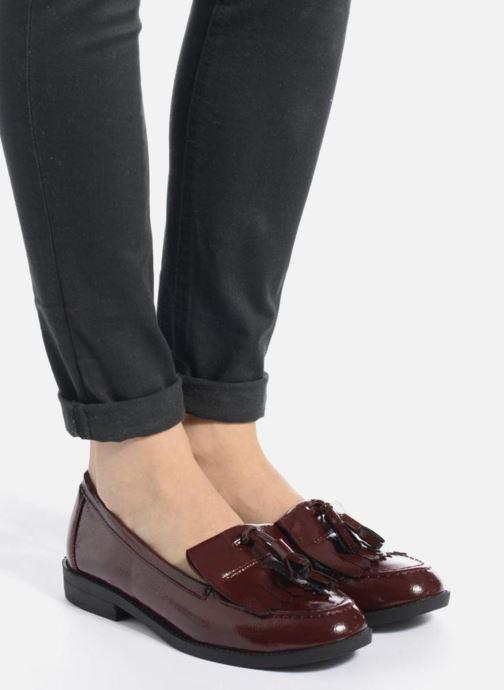Mocassins I Love Shoes KIMOC Bordeaux vue bas / vue portée sac