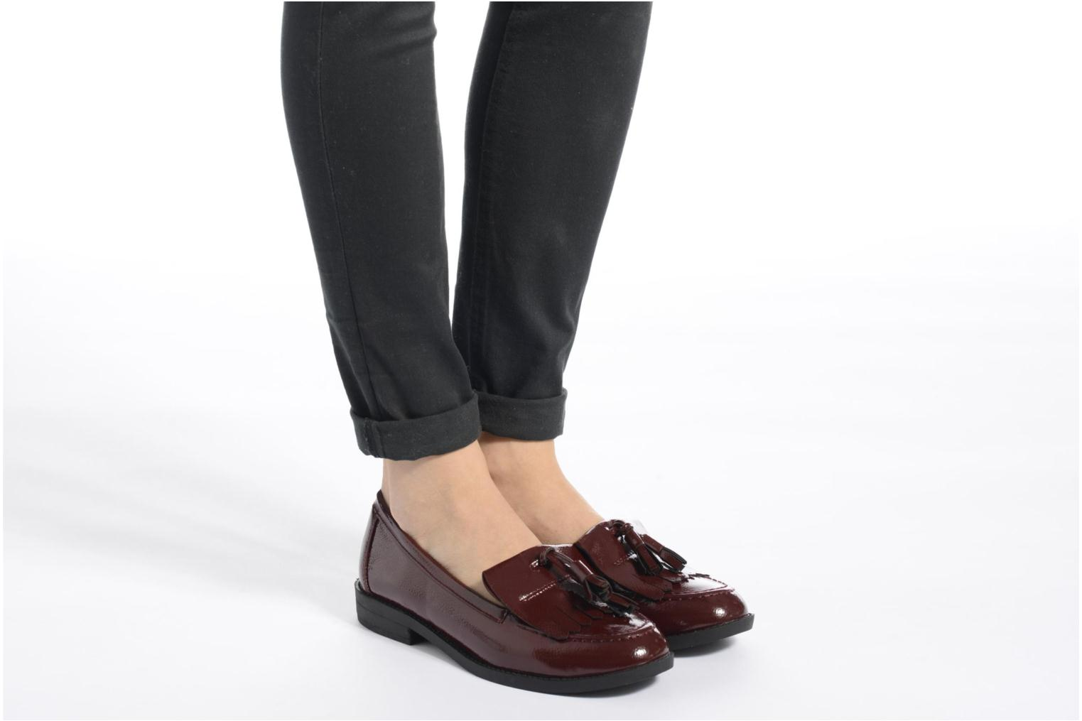 Loafers I Love Shoes KIMOC Burgundy view from underneath / model view