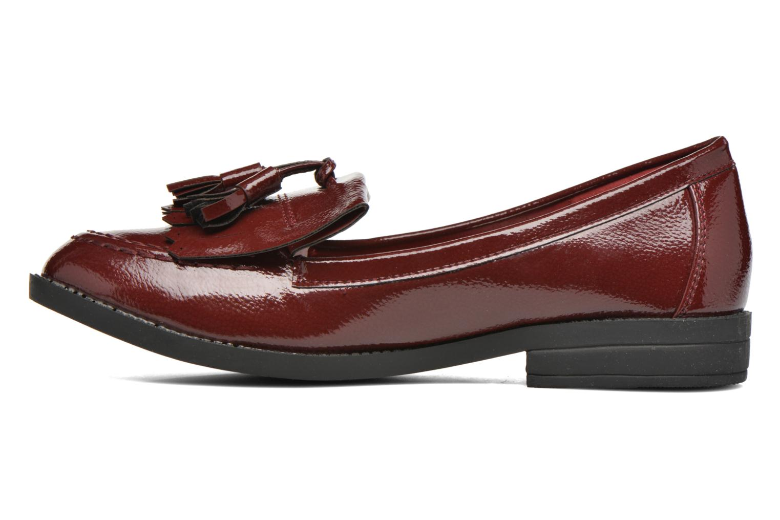 Loafers I Love Shoes KIMOC Burgundy front view