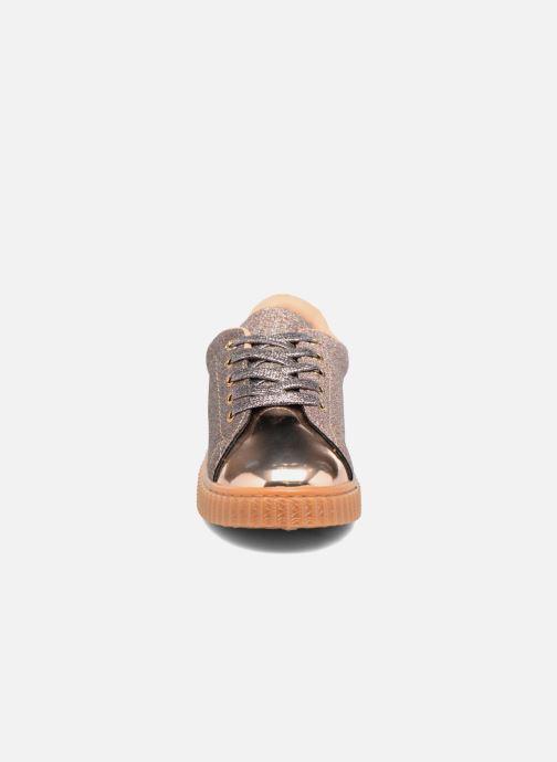 Baskets I Love Shoes KISKLONG Or et bronze vue portées chaussures