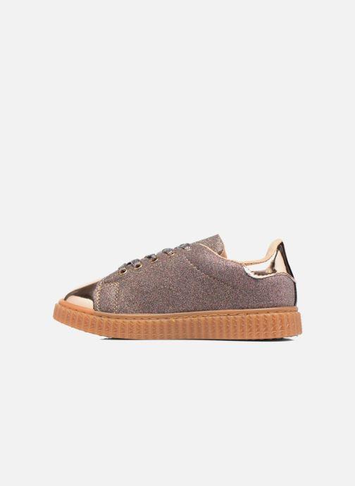 Baskets I Love Shoes KISKLONG Or et bronze vue face