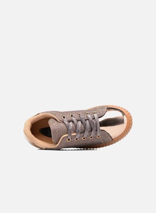 Baskets I Love Shoes KISKLONG Or et bronze vue gauche