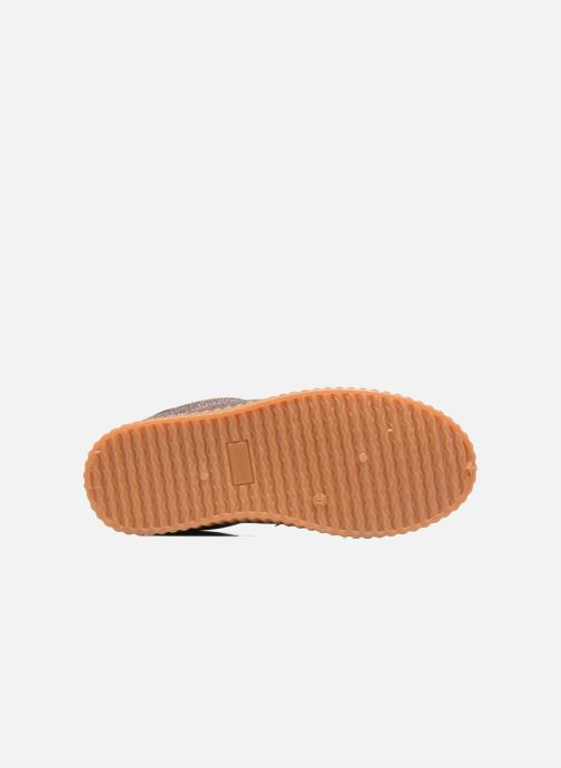 Baskets I Love Shoes KISKLONG Or et bronze vue haut