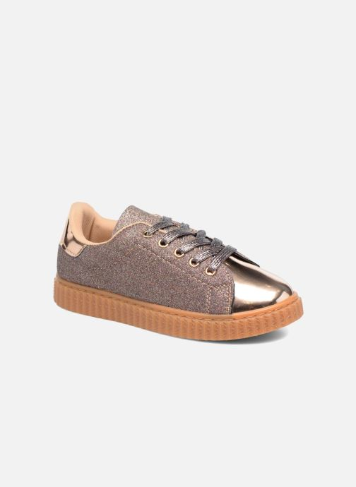 Trainers I Love Shoes KISKLONG Bronze and Gold detailed view/ Pair view