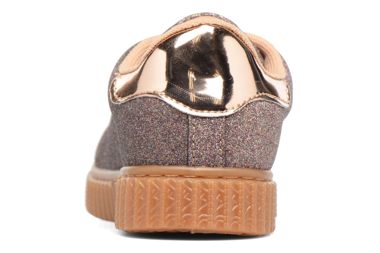 Baskets I Love Shoes KISKLONG Or et bronze vue droite