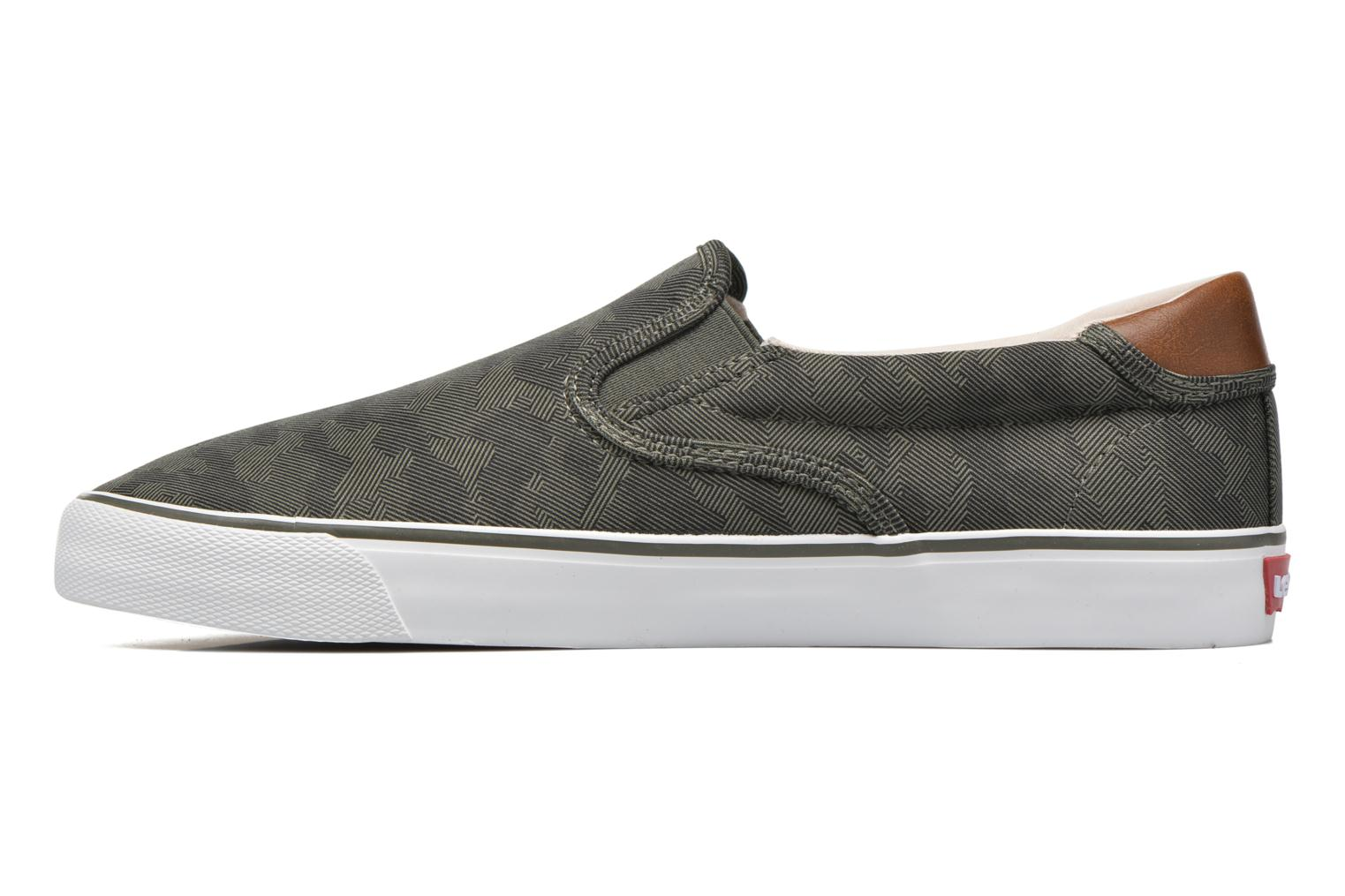 Sneakers Levi's Justin Slip On Verde immagine frontale