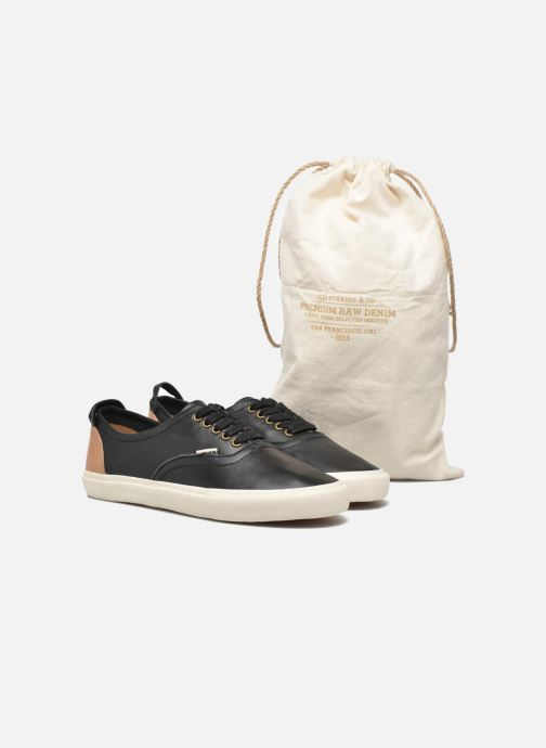 Trainers Levi's White Tab Sneaker Low Black 3/4 view