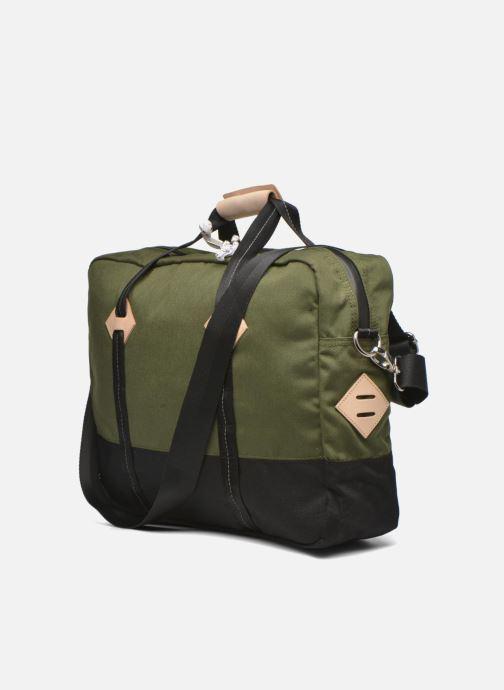 Herrentaschen Levi's Colorblock Messenger bag grün ansicht von rechts
