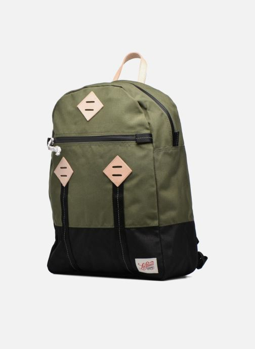 Borsa da palestra Levi's Colorblock Backpack Verde modello indossato