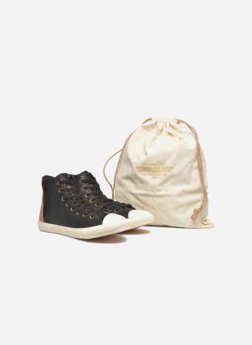 Deportivas Levi's White tab sneaker Hi Negro vista 3/4