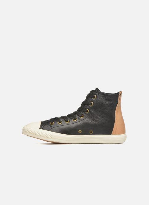 Baskets Levi's White tab sneaker Hi Noir vue face