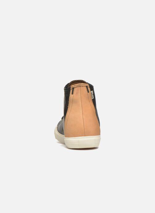 Baskets Levi's White tab sneaker Hi Noir vue droite