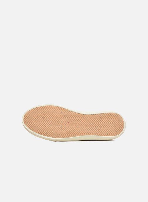 Baskets Levi's White tab sneaker Hi Noir vue haut