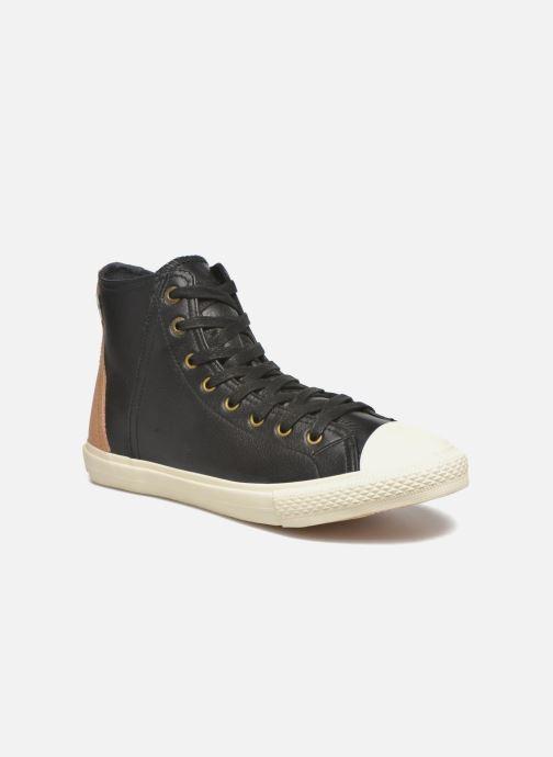 Baskets Levi's White tab sneaker Hi Noir vue détail/paire