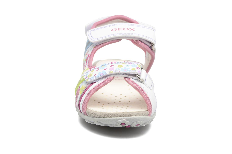 Sandales et nu-pieds Geox J S.Roxanne J52D9A Blanc vue portées chaussures