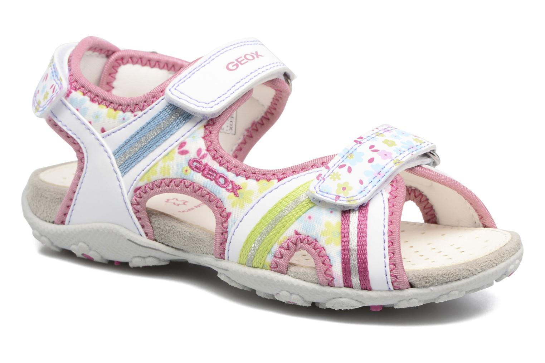 Sandales et nu-pieds Geox J S.Roxanne J52D9A Blanc vue détail/paire