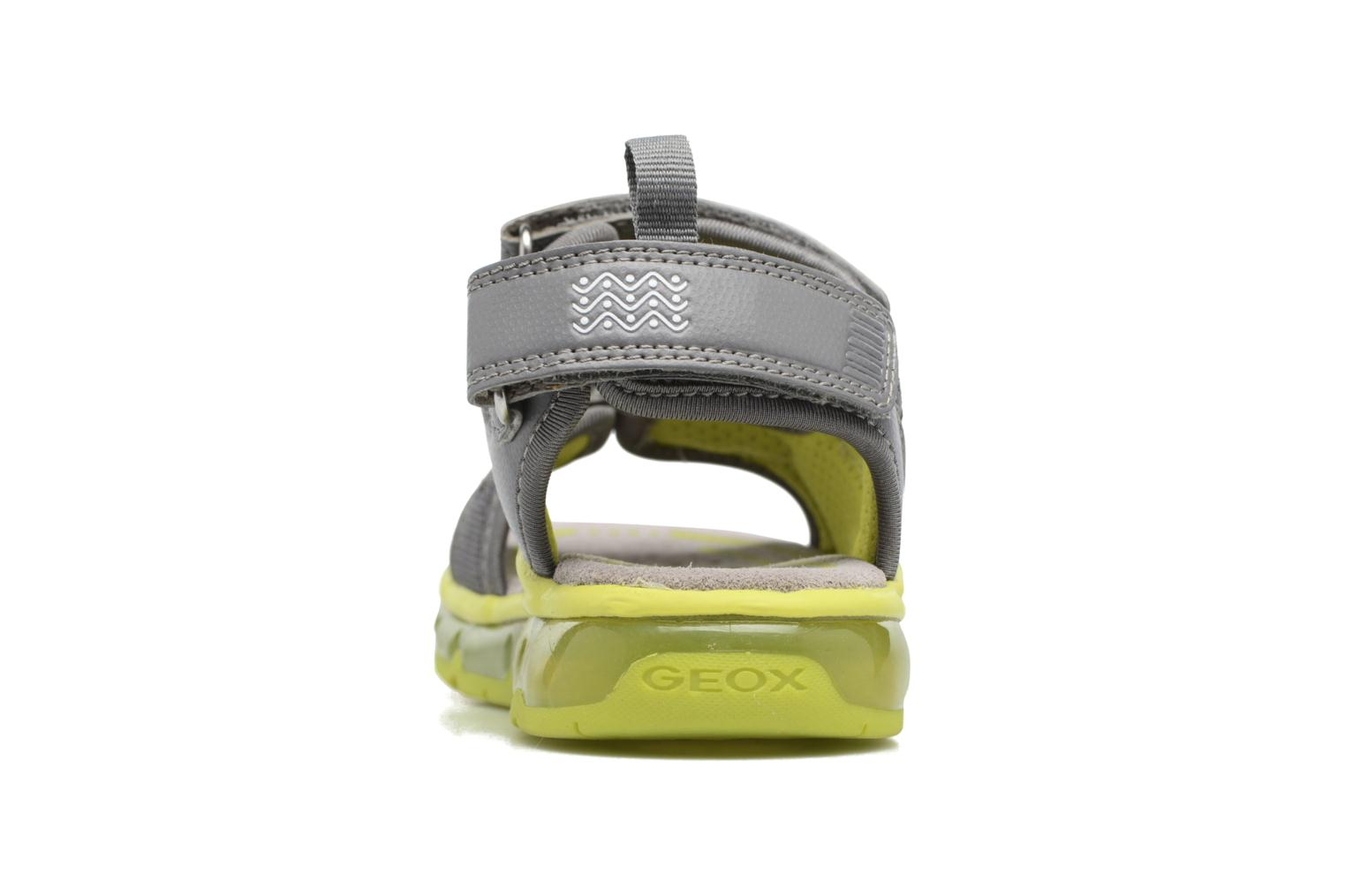 Sandals Geox J S.Android B.B J720QB Grey view from the right
