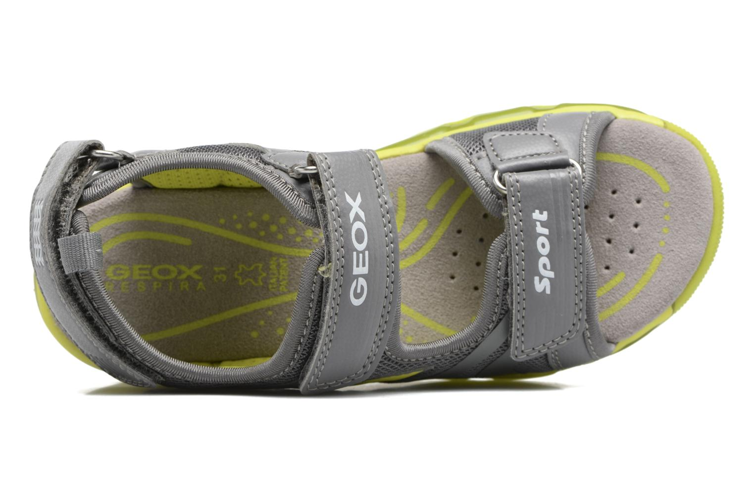 Sandals Geox J S.Android B.B J720QB Grey view from the left