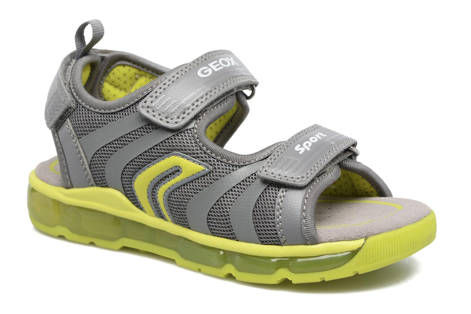 Sandals Geox J S.Android B.B J720QB Grey detailed view/ Pair view