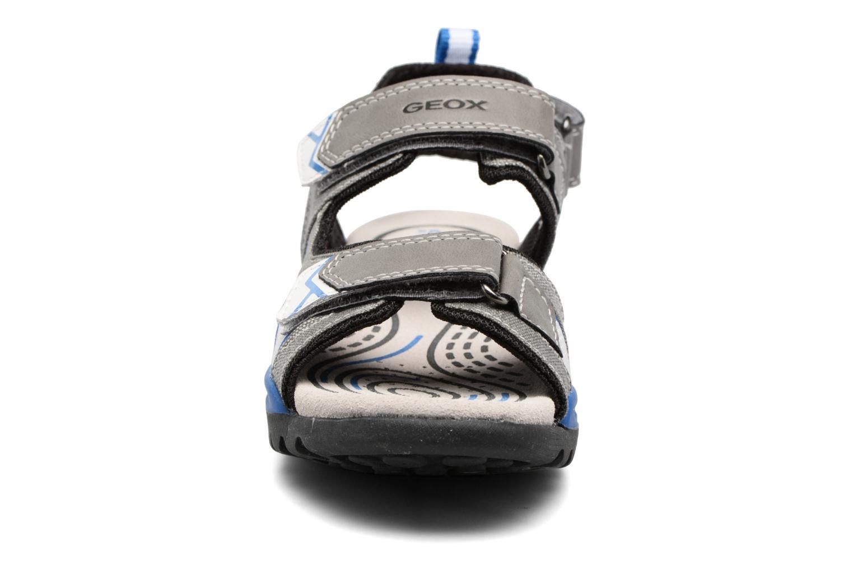 Sandales et nu-pieds Geox J Borealis B. D J720RD Gris vue portées chaussures