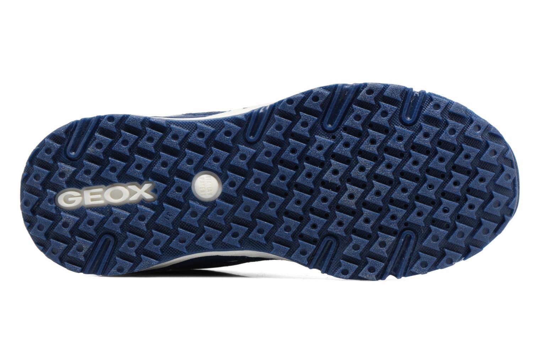 Baskets Geox J Bernie G. J7211A Bleu vue haut