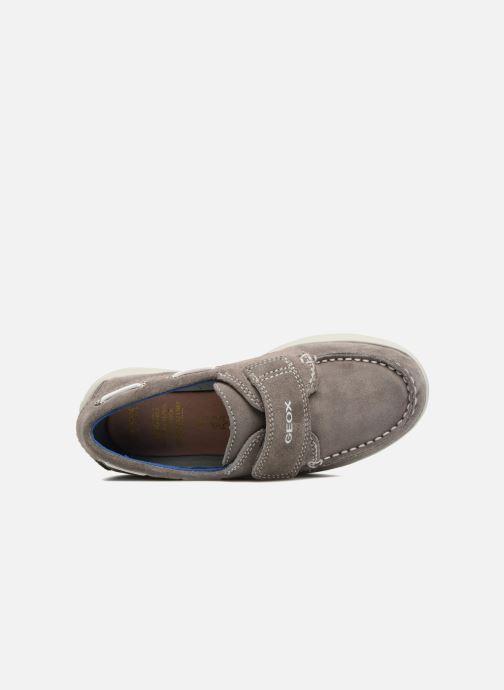 Chaussures à scratch Geox J Anthor B. F J723HF Gris vue gauche