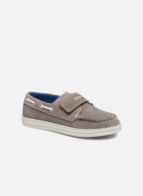 Chaussures à scratch Geox J Anthor B. F J723HF Gris vue détail/paire