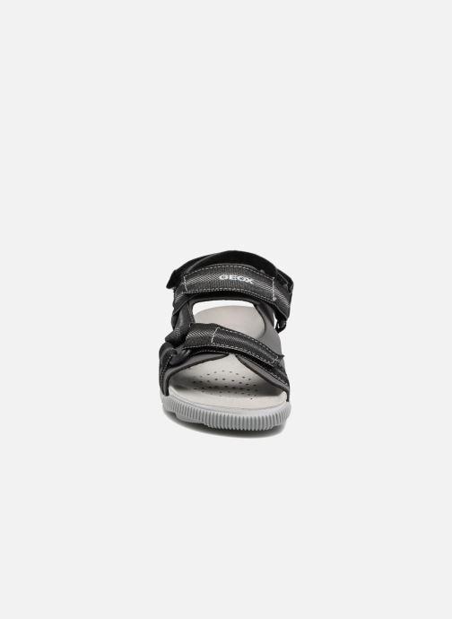 Sandales et nu-pieds Geox J Sandal Storm B J7242B Gris vue portées chaussures