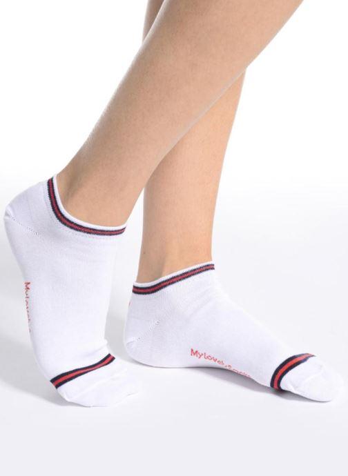 Chaussettes et collants My Lovely Socks Chaussettes Invisibles HARRYETTE Blanc vue haut