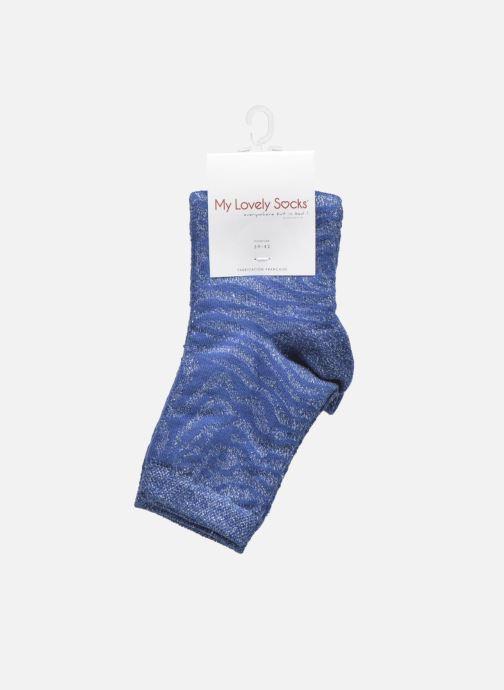 Chaussettes et collants My Lovely Socks Soquettes Lurex LISA Bleu vue derrière