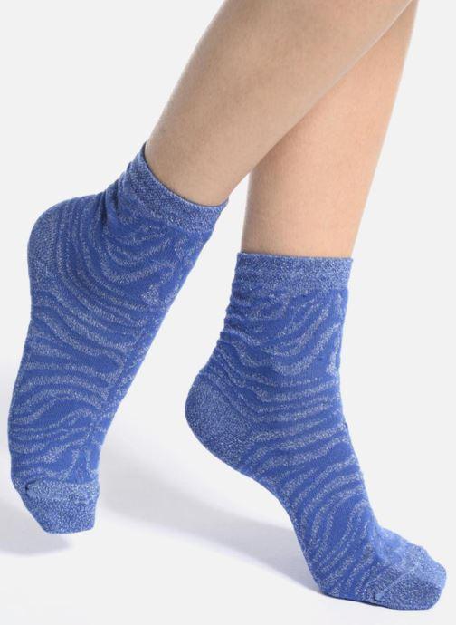Chaussettes et collants My Lovely Socks Soquettes Lurex LISA Bleu vue haut