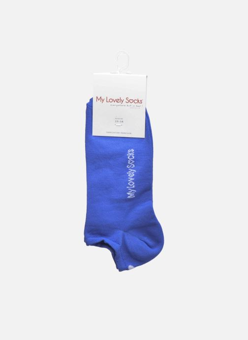 Chaussettes et collants My Lovely Socks Chaussettes Invisibles Fluo SACHA Bleu vue derrière
