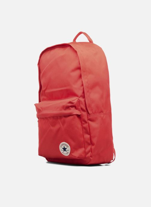 Mochilas Converse EDC poly Backpack M Rojo vista del modelo
