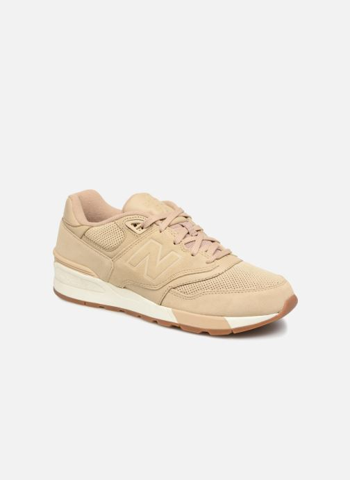 newest d4e52 1461f Baskets New Balance ML597 Beige vue détail paire