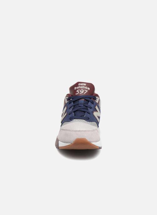 Baskets New Balance ML597 Bleu vue portées chaussures
