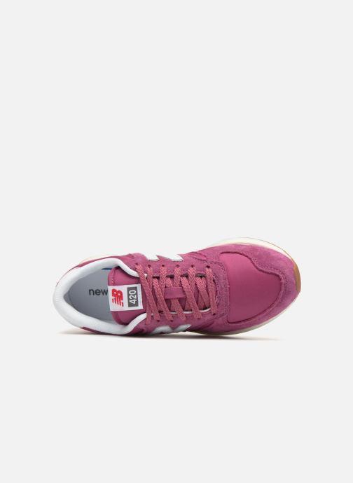 Sneaker New Balance WRL420 rosa ansicht von links