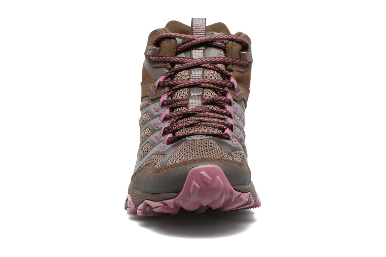 Chaussures de sport Merrell Moab FST Mid Gtx W Marron vue portées chaussures