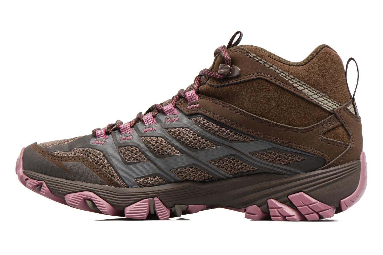 Chaussures de sport Merrell Moab FST Mid Gtx W Marron vue face